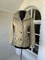 Women's Burberry Brit Beige Nylon Quilted Jacket Size XS