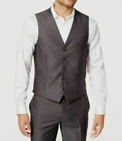 INC Mens Suit Separate Charcoal Gray Size Small S Slim Fit Royce Vest $39 #250
