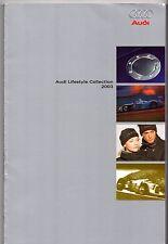 AUDI Stile di vita merce Collection 2003 UK Opuscolo Vendite sul mercato