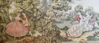 Huge Beautiful Antique Vintage Old Europe Tapestry Wall Hanging Home Decor