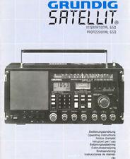 GRUNDIG SATELLIT 650 OPERATING INSTRUCTIONS BOOK ENGLISH FRANCAIS DEUTSCH RADIO