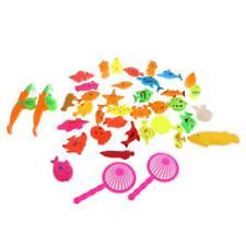 40Pcs Fishing Toy Magnetic Fish Game Fish Model Play Set Preschool Kid Gift