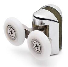 2 x Chromeplate Double Shower door Rollers/Wheels 23mm dia Top or Bottom L061