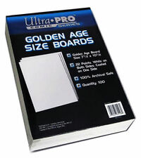 100 Pack Golden Size Comic Backing Boards White Ultra Pro Rigid Protection