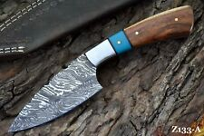 Custom Damascus Steel Hunting Knife Handmade (Z133-A)