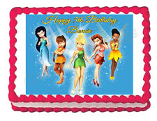 Tinkerbell party cake decoration edible cake image frosting sheet