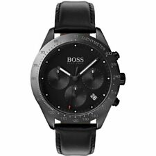 Hugo Boss HB 1513590 Talent Chronograph Black Tone Leather Strap Men's Watch