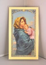 MADONNA OF THE STREET ITALIAN LAMINATED HOLY CARD PRAYER FOR LIFE 25 PER PACK