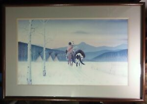 """DONALD VANN LIMITED EDITION LITHOGRAPH """"DECEMBER SKY"""" NATIVE AMERICAN CHEROKEE"""