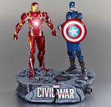 New Disney Store Civil War Limited Edition 800 Statue Iron Man & Captain America