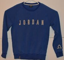 502b8229a015 VTG Michael Air Jordan Mens Crewneck Sweater Jumpman Logo Sweatshirt  Spellout M