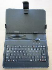 """BLACK USB Keyboard PU Leather Case Stand for 7""""ViewSonic ViewPad 7e Tablet PC"""