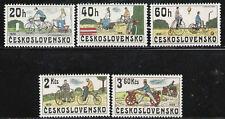 CHECOSLOVAQUIA CZECHOSLOVAKIA 1979 MNH  SC.2255/59 Bicycles