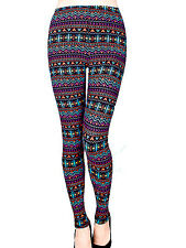 Multi Colored Fashion Leggings LG / XL
