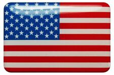 3D Kfz-Aufkleber (gedomt) Flagge USA (R15)
