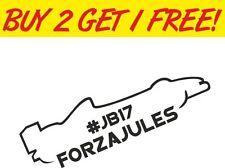 #JB17 Forza Jules Bianchi RIP Memorial Vinyl Car Window BUMPER Stickers Decals