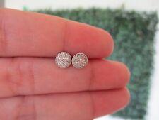 .90 Carat Face Diamond Illusion Earrings 18k White Gold E283 sep