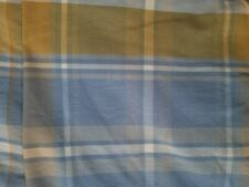 Pair of Plaid Blue & Yellow Euro Shams 31x28