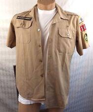 BSA BOY SCOUTS of AMERICA UNIFORM CAMP SHIRT VINTAGE MOBILE COUNCIL PATCHES VTG