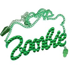 Green Diamante Zombie Necklace Halloween Horror Jewelry Kreepsville 666