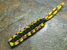 EXPLODE & BLACK PARACORD NO CORE KNIFE LANYARD PULL BRONZE BEAD AMERICAN MADE