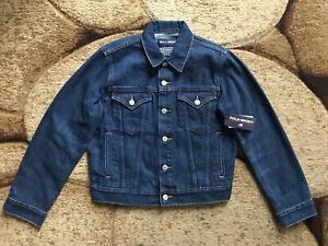 Polo Sport Ralph Lauren Denim Jacket Limited Edition Womens Medium Blue NWT $198