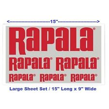 "6 Rapala (Large Set) Logo Pro Staff Fishing Lure Decals 15"" x 9"" Sticker Sheet"