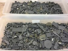 2 POUNDS OF LEGOS Bulk lot Bricks & Parts LBS 100% Lego All Dark Grey Parts