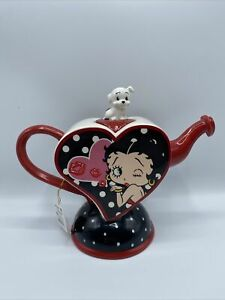 Betty Boop 2013 Westland Heart Shaped Tea Pot RARE! New With Tags!