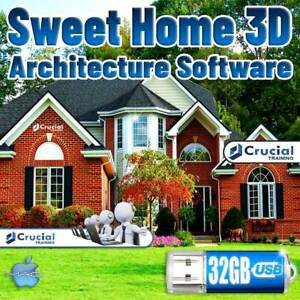 Sweet Home 3D Architect Software Home Kitchen Bed Bath Remodel Landscape Mac USB