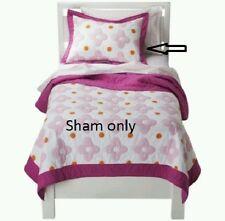 Circo Flower Dot Quilted Pillow Sham Standard Pink/White