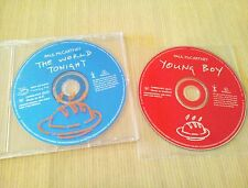 PAUL McCARTNEY - YOUNG BOY - THE WORLD TONIGHT - 2 PROMO CDs FLAMING PIE BEATLES