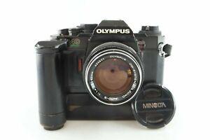 OLYMPUS OM40 OM 40 Program mit G. Zuiko Auto S 1,4 50 mm mit Winder 2 89390