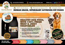 GRAIN & GLUTEN FREE Natural Complete Dog Food TURKEY 15kg 100% Fresh Ingredients
