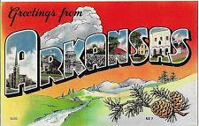 1930's Postcard Greetings From Arkansas Nice Card