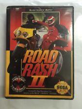 Road Rash II Sega Genesis / Mega Drive Soft Case Version (FAST & FREE SHIPPING )
