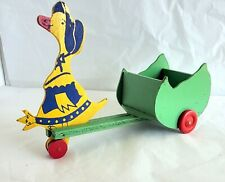 VNTG Mother Goose Pulls A Cart Looks Like A Depression Era Toy L15 (W15)