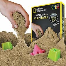 National Geographic Play Sand with Castle Molds and Tray - 2 Lbs (Natural)