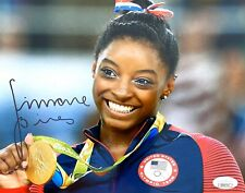 SIMONE BILES GYMNASTICS USA GOLD SIGNED 8x10 OLYMPICS PHOTO w/JSA