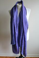 NWT Anne Klein Purple Woven Blanket Scarf Wrap Indulgent Eggplant 35x75