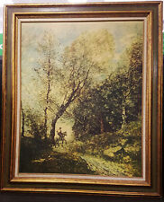 "Forest of Coubron by Jean Baptiste Corot Framed 30.5"" L x 36 Tall"
