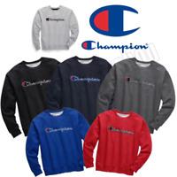 Champion Powerblend Men's Fleece Crew Felt Script Logo New Chainstitch GF88H