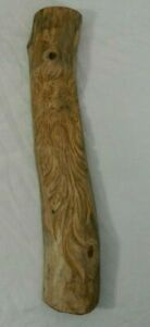 1984 Hand Carved Wood Tree Branch Old Man In A Tree Signed Artist Mike Vaughn