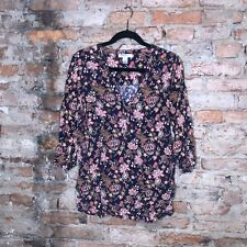 Motherhood Maternity Shirt Size XL Floral Blouse Tunic 3/4 Sleeves