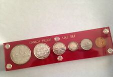 1957 Canada Silver Proof-Like Gem Set of 6 Coins in Capital Lucite E0962