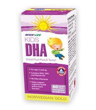 Renew Life Norwegian Gold Kids DHA 60 Chewable Softgels