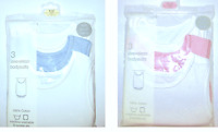 Baby Sleeveless BodyVest Romper 3 Vest Pack 100% Cotton,Sizes NB to 24 months