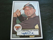 2006 Topps 52 Yurendell De Caster Autograph /Signed card (B3) Pittsburgh Pirates