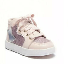 Sole Play Uli Glitter Leather Shoes Sneakers Girls Baby Infant Toddler Pink 6 M