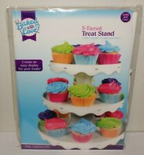3-Tier Cupcake Stand Round White Cake Dessert Pastry Display Tower Holder